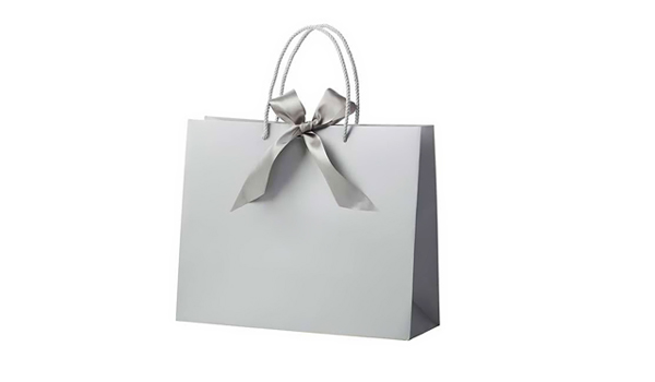 silver paper bag